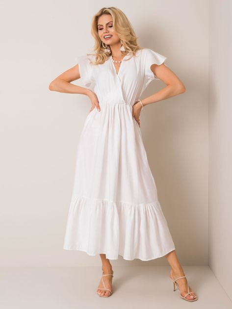 Biała sukienka Fabienne