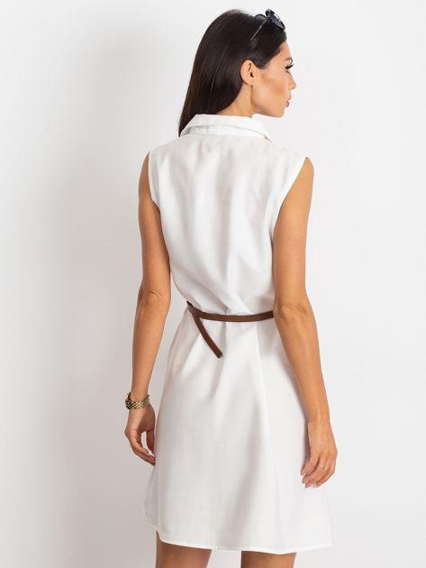 Biała sukienka Safari                              zdj.                              2