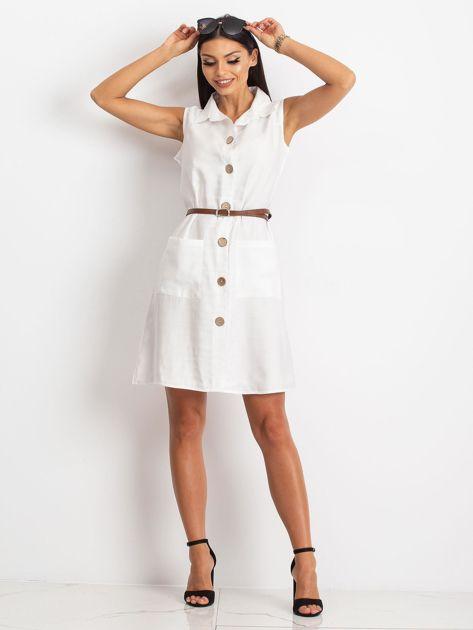 Biała sukienka Safari                              zdj.                              4