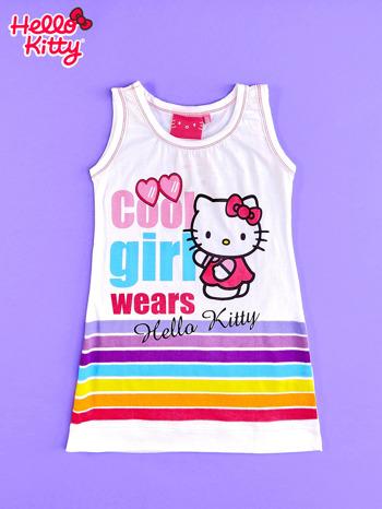 Biała sukienka bez rękawów dla dziewczynki HELLO KITTY