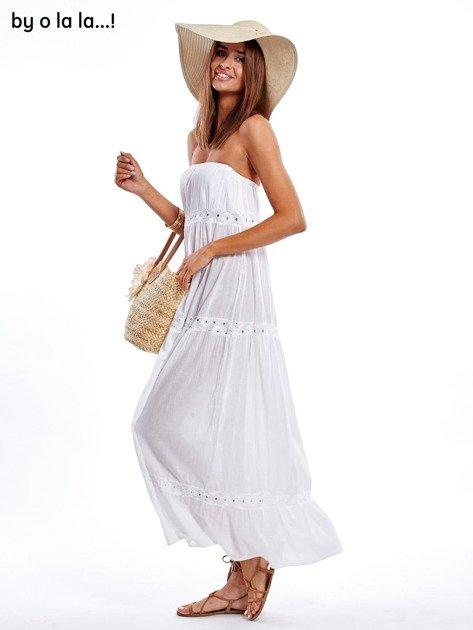 Biała sukienka maxi BY O LA LA                               zdj.                              1