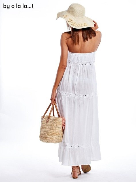 Biała sukienka maxi BY O LA LA                               zdj.                              9