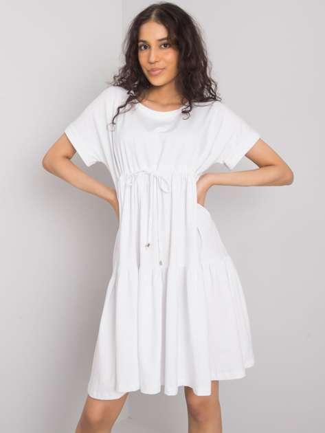 Biała sukienka na co dzień Sebille RUE PARIS