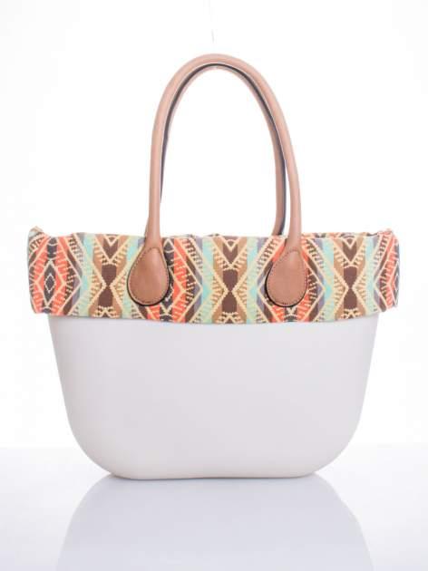 Biała torba gumowa z motywem azteckim