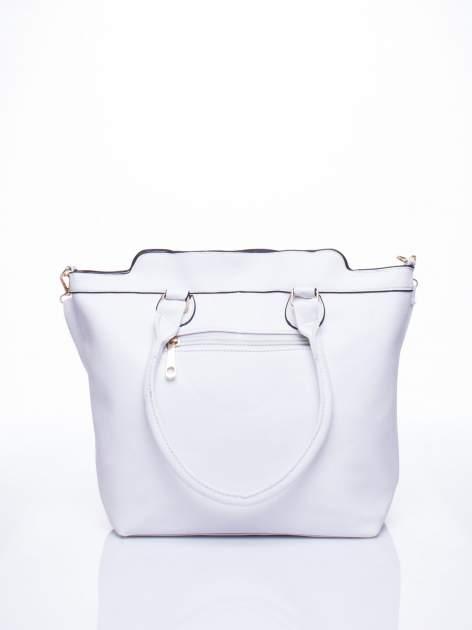 Biała torba miejska z odpinanym paskiem                                  zdj.                                  4