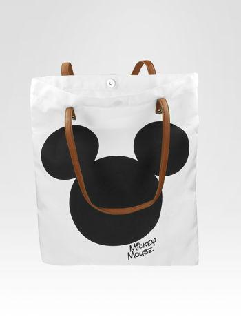 Biała torba shopper bag z motywem Mickey Mouse                                  zdj.                                  6