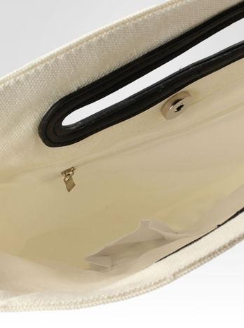 Biała torba shopper bag z napisem JE T'AIME MON AMOUR                                  zdj.                                  6