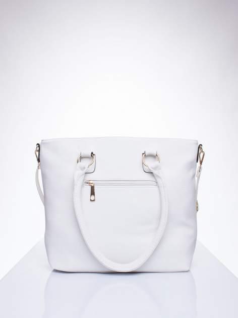 Biała torba shopper bag z suwakiem                                  zdj.                                  3