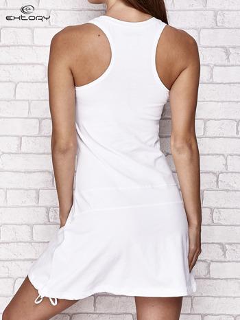 Biała trapezowa sukienka sportowa                                   zdj.                                  5