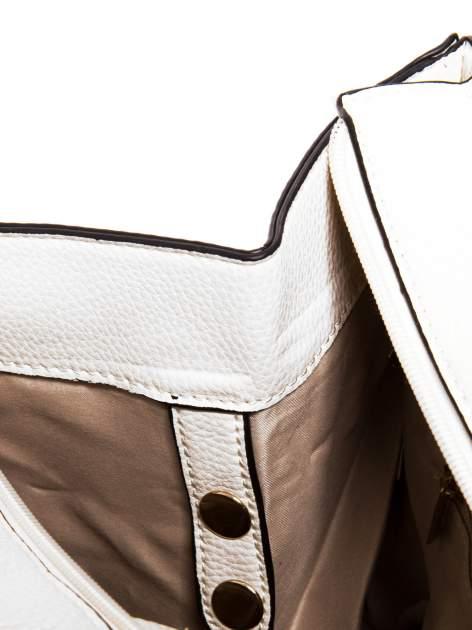 Biała trapezowa torba miejska                                  zdj.                                  7