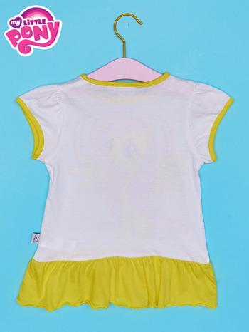 Biała tunika dla dziewczynki MY LITTLE PONY z kokardką                                  zdj.                                  2
