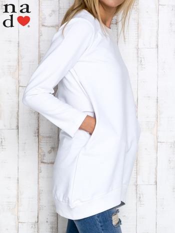 Biała tunika z kieszeniami                                  zdj.                                  3