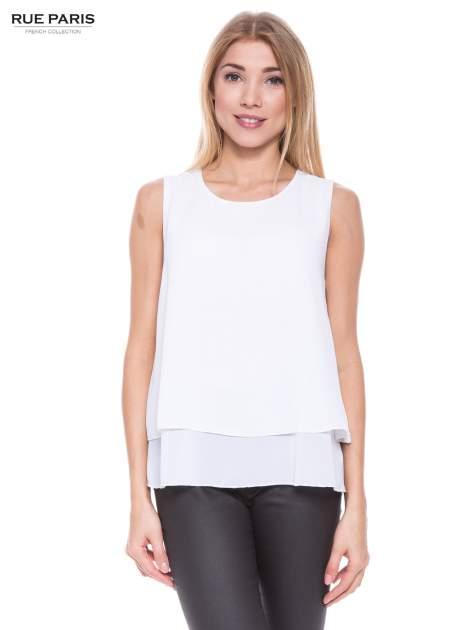 Biała zwiewna koszula dwuwarstwowa                                  zdj.                                  1