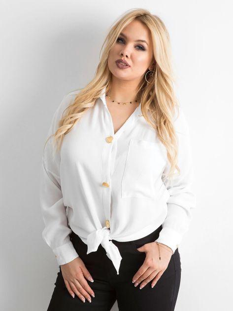 Biała zwiewna koszula oversize                              zdj.                              1