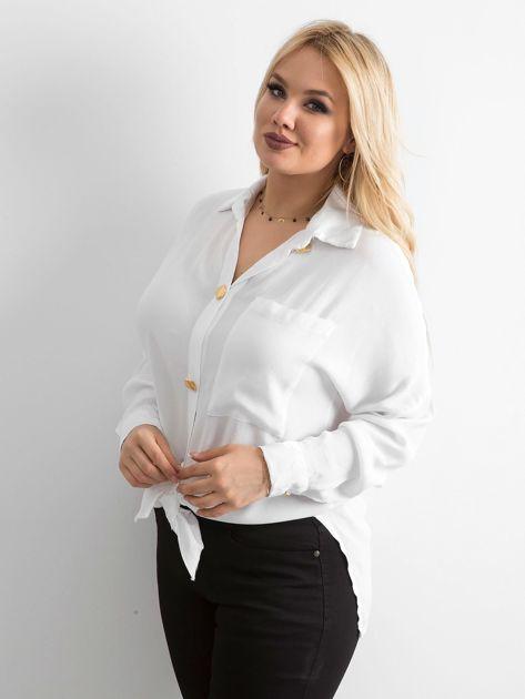 Biała zwiewna koszula oversize                              zdj.                              3