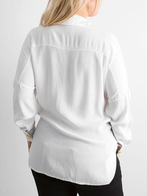 Biała zwiewna koszula oversize                              zdj.                              2