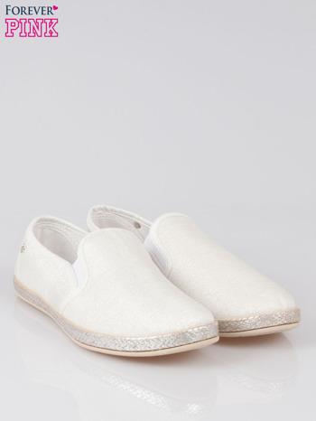 Białe buty slip-on                                  zdj.                                  2