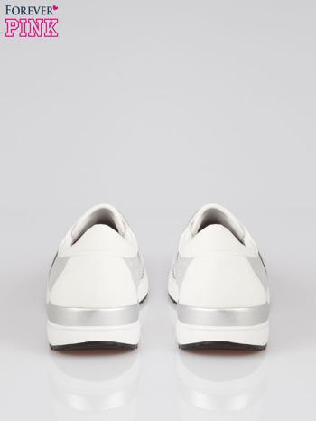 Białe buty sportowe textile Troublemaker z dżetami                                  zdj.                                  3