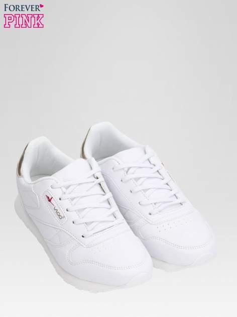 Białe buty sportowe ze złotym zapiętkiem                                  zdj.                                  6