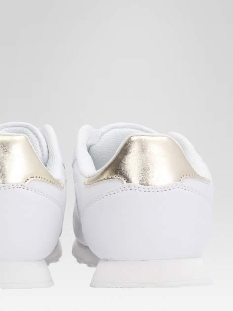 Białe buty sportowe ze złotym zapiętkiem                                  zdj.                                  8