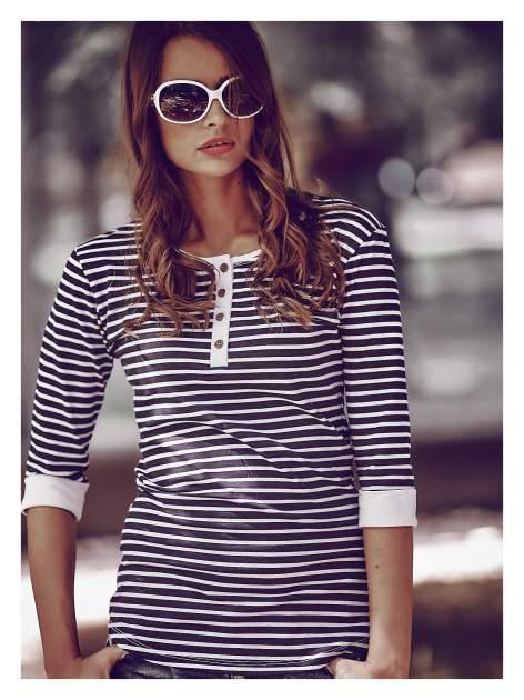 Białe eleganckie okulary o owalnym kształcie typu MUCHY i srebrnym zdobieniu na zauszniku                                   zdj.                                  2