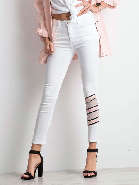 Białe jeansy Totally                              zdj.                              1