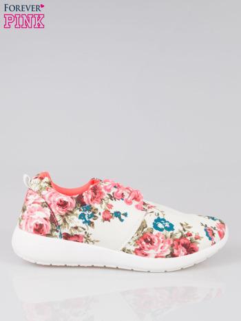 Białe kwiatowe buty sportowe Bring It On na podeszwie flex                                  zdj.                                  1