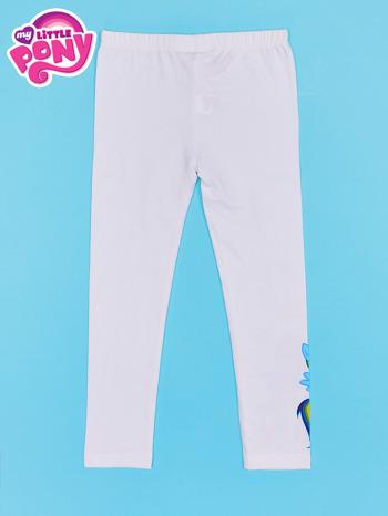 Białe legginsy dla dziewczynki z nadrukiem MY LITTLE PONY                                  zdj.                                  2