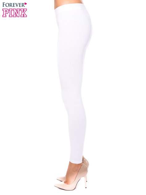 Białe legginsy z bawełny                                  zdj.                                  2