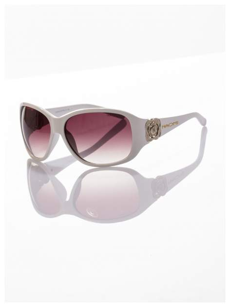 Białe piękne okulary przeciwsłoneczne dla kobiet NAOMI -KLASYKA                                   zdj.                                  1