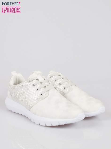 Białe plecione buty sportowe duo Split Up                                  zdj.                                  2