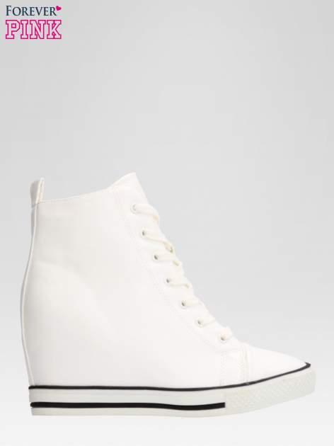 Białe skórzane sneakersy damskie                                  zdj.                                  1