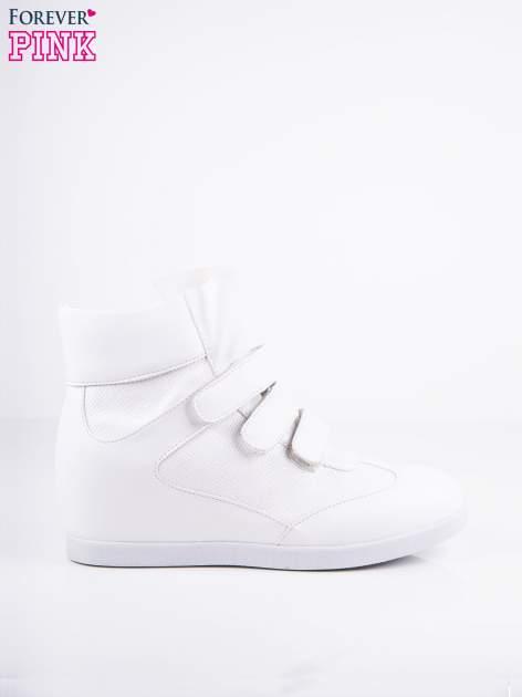 Białe sneakersy na rzepy                                  zdj.                                  1