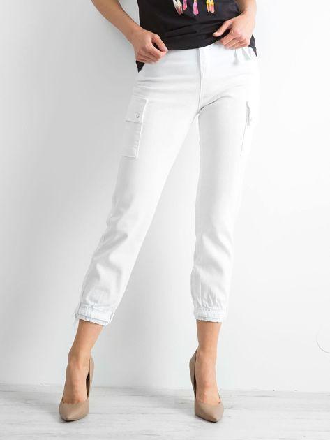 Białe spodnie Vintage                              zdj.                              1