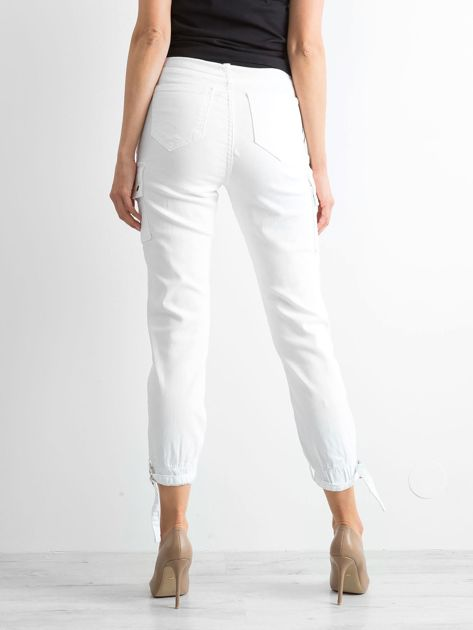 Białe spodnie Vintage                              zdj.                              2