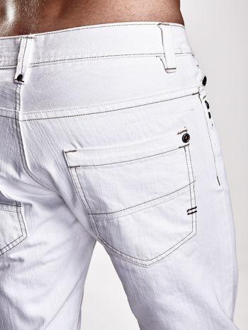 Białe spodnie męskie z napami na kieszeniach Funk n Soul                                  zdj.                                  6