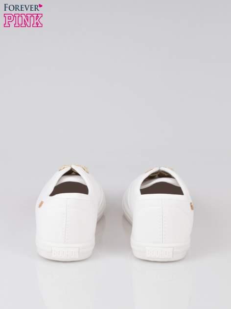 Białe tenisówki ze złotymi sznurowadłami Malibu                                  zdj.                                  3