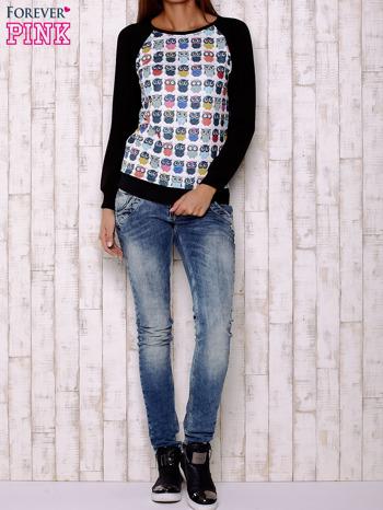 Biało-czarna bluza z sowami                                  zdj.                                  2