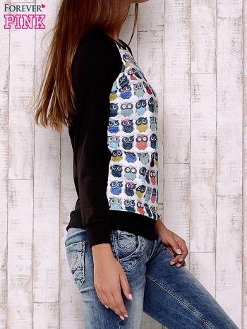 Biało-czarna bluza z sowami                                  zdj.                                  3