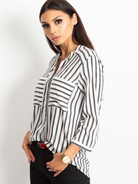 Biało-czarna bluzka Sienna                              zdj.                              3