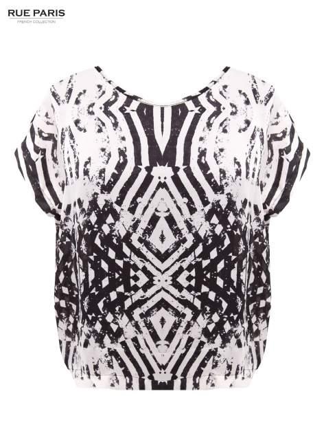 Biało-czarna koszula w geometryczny wzór                                  zdj.                                  2