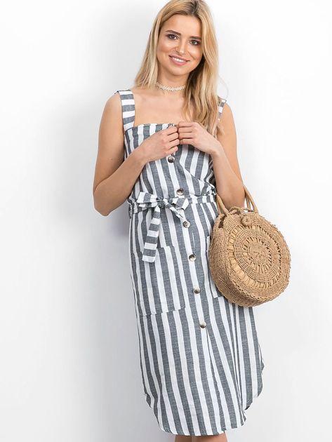 Biało-czarna sukienka Perilously                              zdj.                              4