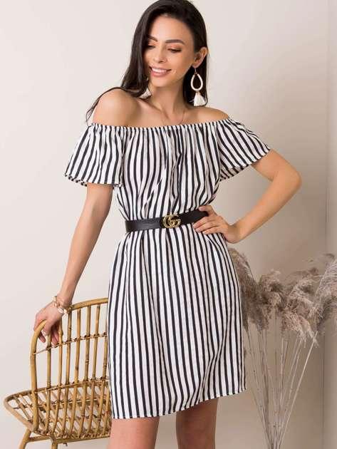Biało-czarna sukienka Rosalyn