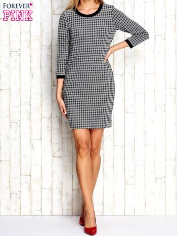 Biało-czarna sukienka motyw plecionki                                  zdj.                                  5