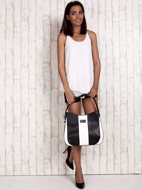 Biało-czarna torba miejska two tone                                  zdj.                                  2