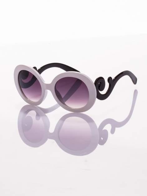 Biało-czarne okulary FASHION wyjątkowe