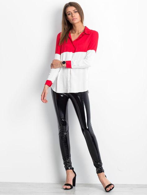 Biało-czerwona koszula damska                              zdj.                              4