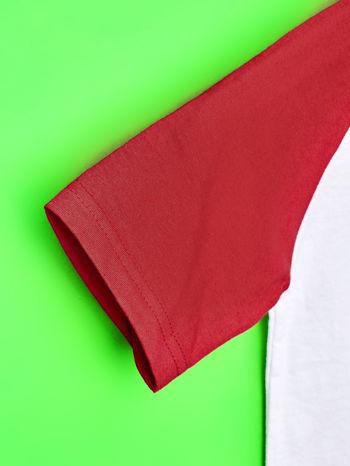 Biało-czerwony t-shirt chłopięcy z nadrukiem TRANSFORMERS                                  zdj.                                  6