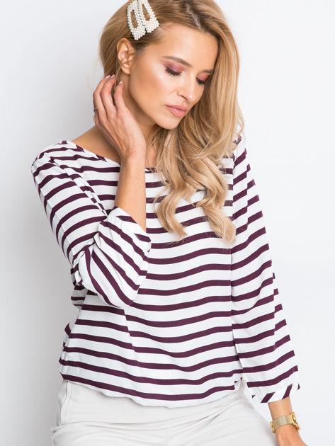Biało-fioletowa bluzka Imagine                              zdj.                              1