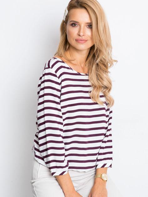 Biało-fioletowa bluzka Imagine                              zdj.                              6
